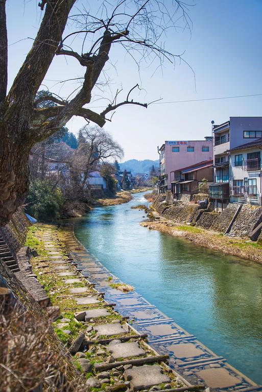 Takayama (Takayama) - River and houses